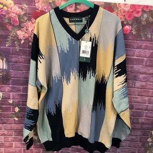 Tundra Canada Men's Multicolor V Neck Sweater XL